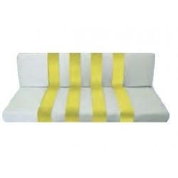 Banquette ARRIERE de MEHARI Fond blanc rayures jaune