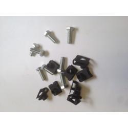 Kit fixation de la tôle protection moteur (8 agrafes Ø7mm + 8 vis Ø7mm)