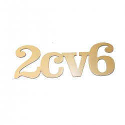 Monogramme 2CV6 en INOX découpé