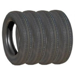 Lot de 4 Pneus 135 x 15 TUBELESS NANKANG
