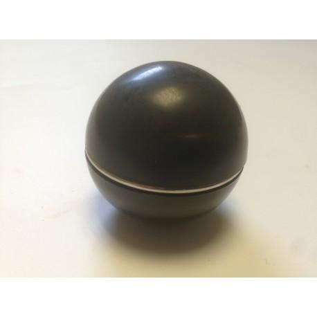 Pommeau NOIR avec cerclage chromé