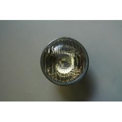 Optique rond pour 2CV, sans trou pour veilleuse  vendu avec support d'ampoule à 3 ergots