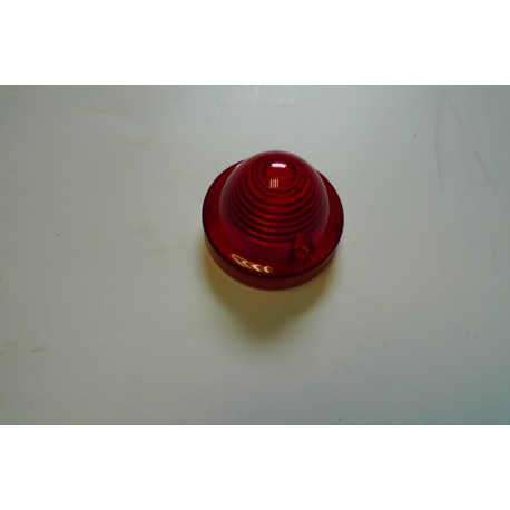 Cabochon rond ROUGE